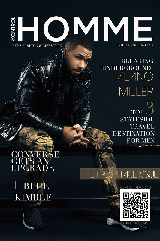 Alano Miller for Kontrol Magazine assisted stylist Chanel Scales